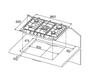 Газовая панель KUPPERSBERG FV9TGRZ ANT Silver 2