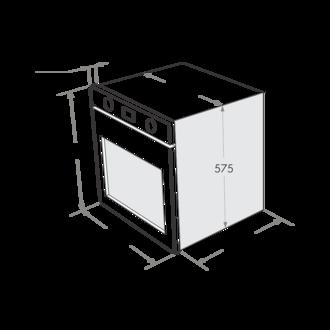 Газовый духовой шкаф Maunfeld MGOG.673W