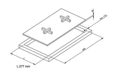 Газовая панель Korting HGG 382 CTN