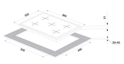Варочная панель Korting HG 995 CTX