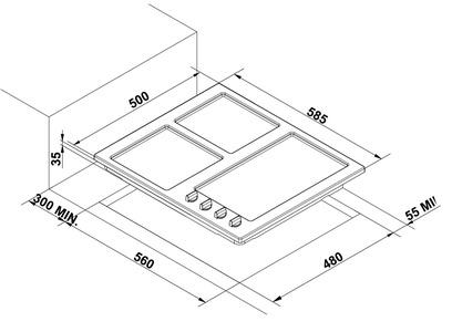 Варочная панель Korting HG 630 CTSC