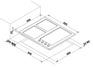 Варочная панель Korting HG 630 CTSC 2