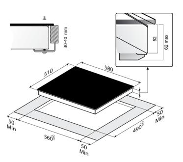 Индукционная панель Korting HI 6450 BGR