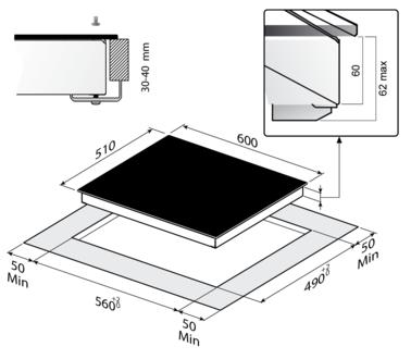 Индукционная панель Korting HI 64502 B