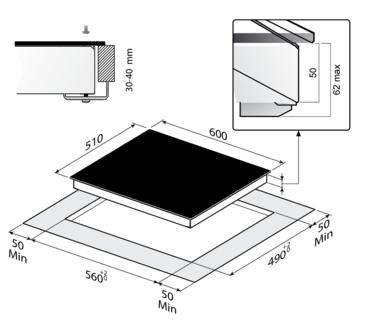 Стеклокерамическая панель Korting HI 6203 B