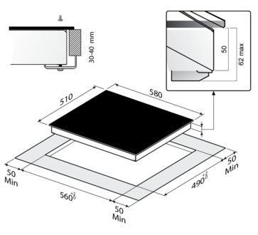 Индукционная панель Korting HI 6402 X