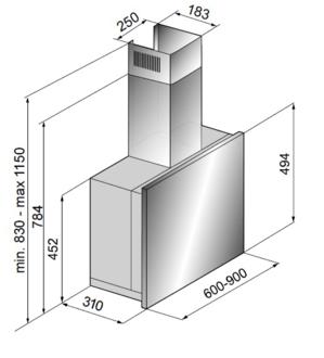 Вытяжка Korting KHP 6880 GW