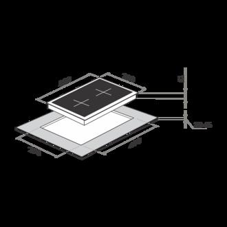Газовая панель MAUNFELD MGHE.32.73W белый
