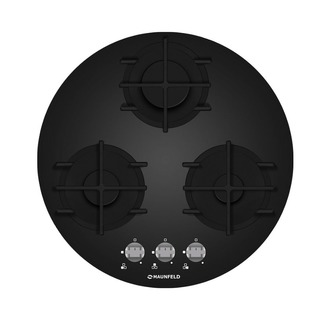 Круглая газовая панель MAUNFELD MGHG.53.19B черный