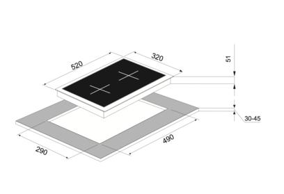 Электрическая панель MAUNFELD MEHE.32.62W