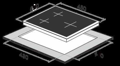 Индукционная панель MAUNFELD MPR PM45I WH