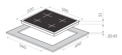 Электрическая поверхность MAUNFELD MEHE.64.85W
