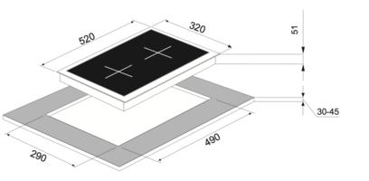 Электрическая панель MAUNFELD MEHE.32.62B