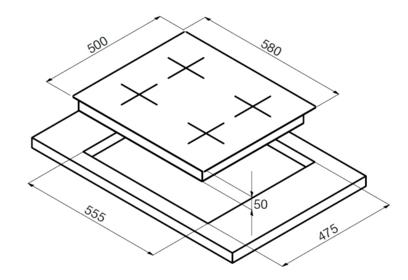 Варочная панель Korting HG 6115 CTRI