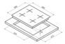 Варочная панель Korting HG 6115 CTRN 4