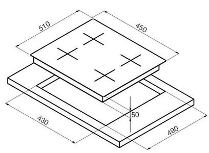 Электрическая панель Korting HK 42031 B