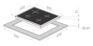 Комплект Maunfeld: панель MGHS.64.77S + газовый шкаф MGOG.673S 2