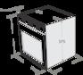 Комплект Maunfeld: панель MGHS.64.77S + газовый шкаф MGOG.673S 4