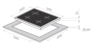Комплект Maunfeld: панель MGHG.64.17B + газовый шкаф MGOG.673B 2