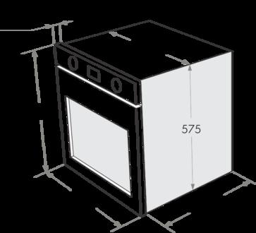 Комплект Maunfeld: панель MGHG.64.17B + газовый шкаф MGOG.673B