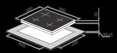 Комплект Maunfeld: панель MGHG.64.17I + электрический шкаф MEOF.676I