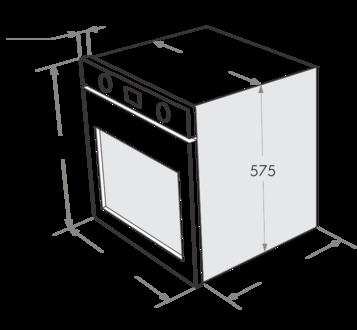 Комплект Maunfeld: панель MGHG.64.22B + электрический шкаф MEOC.674S2