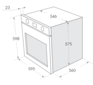 Комплект Maunfeld: панель MGHG.64.22B + электрический шкаф MEOC.674S2 4