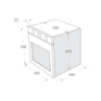 Комплект Maunfeld: панель MGHE.43.71RW + газовый шкаф MGOG.673W 4