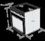 Комплект Maunfeld: панель MGHS.53.71S + электрический шкаф MEOC.674S1 4