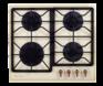 Комплект Kuppersberg: панель FQ 663 C + газовый шкаф SGG 663 C 1