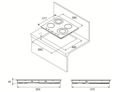 Комплект Kuppersberg: панель FA6VS02 + электрический шкаф HO 655 T