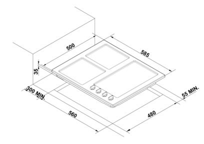Комплект Korting: панель HG 695 CX + газовый шкаф OGG 772 CFX