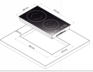Индукционная панель Korting HI 32003 BW 2