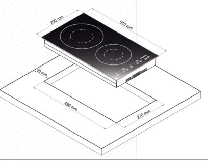 Электрическая панель Korting HK 32033 BW
