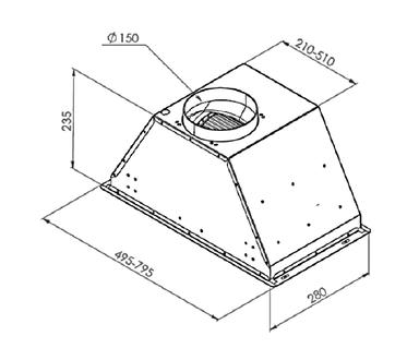 Вытяжка Zigmund & Shtain K 003.71 S