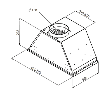 Вытяжка Zigmund & Shtain K 003.71 W