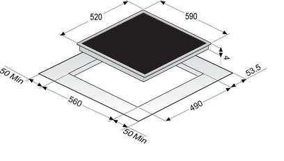 Индукционная панель Zigmund & Shtain CIS 028.60 BX