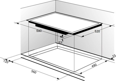 Индукционная панель Zigmund & Shtain CIS 219.60 DX