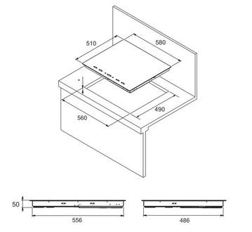 Индукционная панель Zigmund & Shtain CIS 189.60 BK