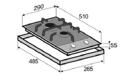 Газовая панель Zigmund & Shtain GN 124.31 S