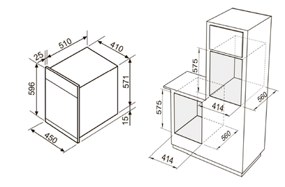 Комплект Zigmund&Shtain: панель GN 58.451 B + шкаф EN 242.622 S