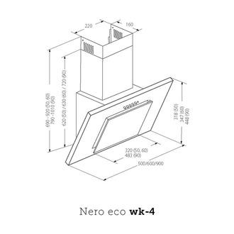 Вытяжка AKPO WK-4 Nero eco 50 нержавейка, черное стекло