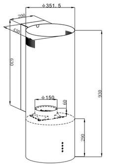 Вытяжка Maunfeld LEE WALL 35 черный (пристенное крепление)