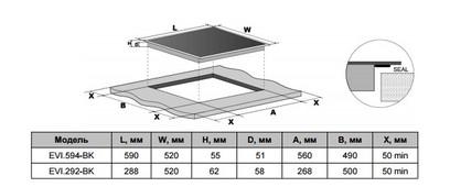 Электрическая панель MAUNFELD EVI.292-BK черный