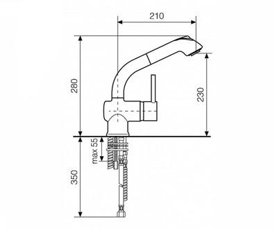 Смеситель для кухни ITALMIX Industriale 0820