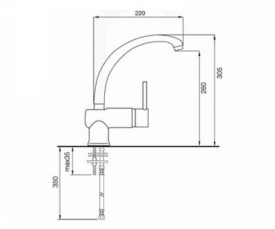 Смеситель для кухни ITALMIX Industriale 0632