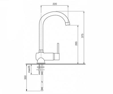 Смеситель для кухни ITALMIX Industriale 0636