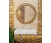 Зеркало Dubiel Vitrum Pompea Round 70х70 (черное)