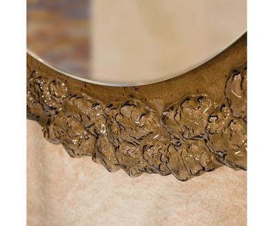Зеркало Dubiel Vitrum Pompea Round 98х98  (черное)