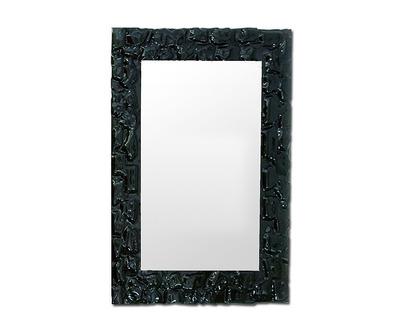 Зеркало Dubiel Vitrum Pompea Rectangle 80х90 (черное стекло)